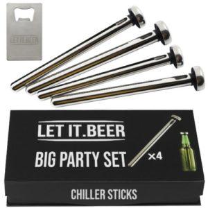 4 Beer Chiller Sticks for Bottles